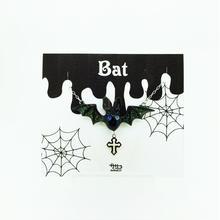 Batネックレス オッドアイ(青×水色)(クロス)