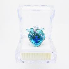 メディカルハート心臓リング  青みどり青混色