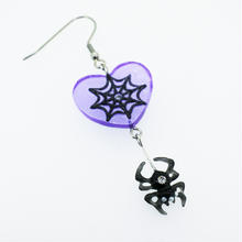 spiderピアス 片耳(イヤリング交換可能)