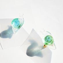 dendententoピアス/イヤリング メロンソーダ クリア(片耳)