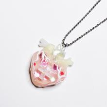 メディカルハート心臓ネックレス  ハート 蓄光 (チェーン60cm)