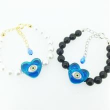 Heart eye青  ブレスレット