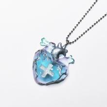 メディカルハート心臓ネックレス ピンク青みどり混色(チェーン60cm)