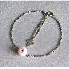 small eyeブレスレット 1目玉 ピンク
