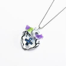 メディカルハート心臓ネックレス 透明(チェーン約60cm)