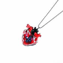 メディカルハート心臓ネックレス 赤(チェーン60cm)