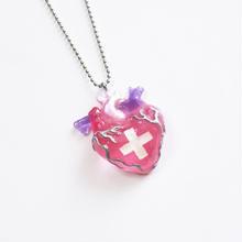 メディカルハート心臓ネックレス ピンク(チェーン約60cm)