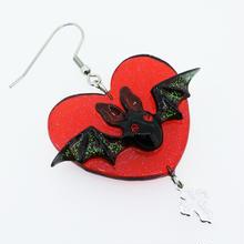 Batピアス 片耳(イヤリング交換可能)