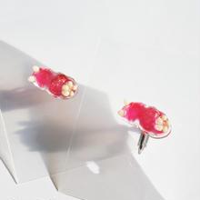 ウミウシピアス/イヤリング片耳  クリア イチゴミルクかき氷