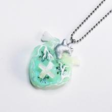 メディカルハート心臓ネックレス雪の結晶(チェーン60cm)