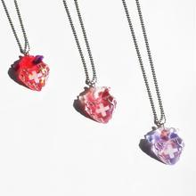 メディカルハート心臓ネックレス ピンク系(チェーン約60cm)