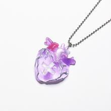 メディカルハート心臓ネックレス 薄紫(チェーン約60cm)