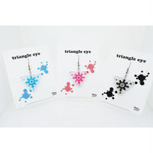 triangle eyeピアス(片耳)(イヤリング交換可能)