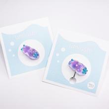ウミウシピアス/イヤリング片耳  クリア 薄紫
