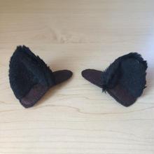 犬耳クリップ (黒)