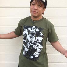 【残りわずか】HAT-UPフォトTシャツ【カーキ】
