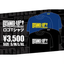 【GOING-UP】ロゴTシャツ/黒×白【NEW】
