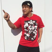 【残りわずか】HEAT-UPフォトTシャツ【レッド】