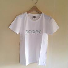 LadiesTシャツ 5人の白ワンコ PepperMint