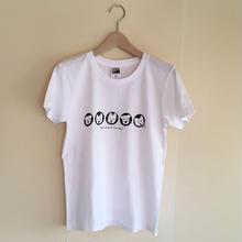 LadiesTシャツ 5人の白ワンコ