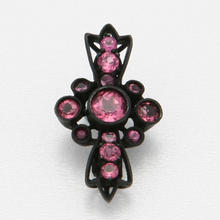 Cross Floating ring-pink