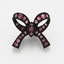 Ribbon Floating Ring Black Matte-Pink