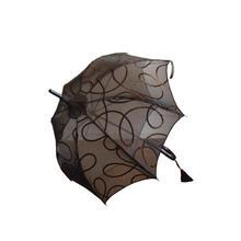 ブラウンレース日傘