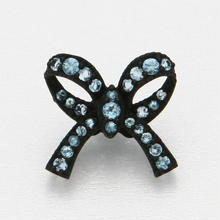 Ribbon Floating Ring Black Matte- Blue