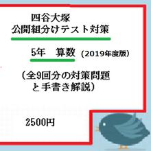 2019年 公開組分けテスト対策 5年算数(全9回分)