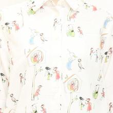武井武雄xグラニフ シャツワンピ雀の洋服(pl_4328)