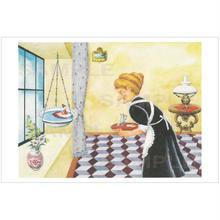 ポストカード 『おやゆびひめ』おばあさん(pl_26011)