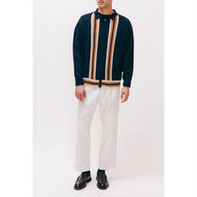 LS ZIP KNIT POLO