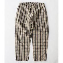 Cotton Check Easy Pants