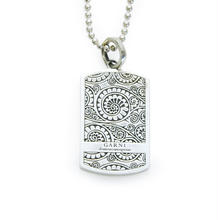 Vine Dog Tag Pendant - L