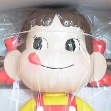 ペコちゃん人形(首振り) 高さ31cm 緑色金属台座