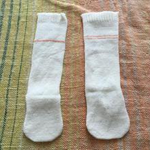 幼児用 冷えとり靴下2枚セット〔シルク&コットン〕オレンジライン