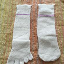 子ども用 冷えとり靴下2枚セット〔シルク&コットン〕パープルライン