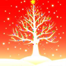 A4イラスト001 雪樹