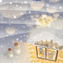 A4イラスト105 Snow Song(白い子守唄)