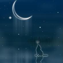 A4イラスト083 寒月の涙