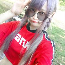 ミニ丈ラインTシャツ/select