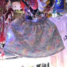 パステルブルーの空に浮かぶパステルピンクとムーンのキルトスカート/ 神様ごっこ