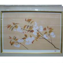 奥村土牛 多色刷り リトグラフ 「八重桜」 限定250部 188/250