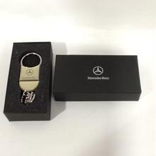 【未使用】ベンツ 純正 ロゴ入 キーリング Mercedes-Benz (メルセデス・ベンツ) 箱付き ss1803-110
