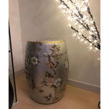 予約販売❣️小鳥さん樽風陶器 白花