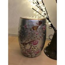 予約販売❣️小鳥さん樽風陶器 ピンク花