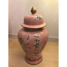 SALE50%OFF小鳥さん陶器蓋つきピンク