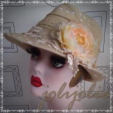 【SALE!】麦わら帽子 レディース 手作り1点物
