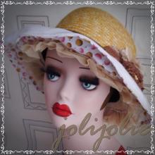 【SALE!】麦わら帽子 レディース 手作り1点物 18