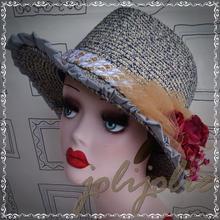 【SALE!】麦わら帽子 レディース 手作り1点物 43